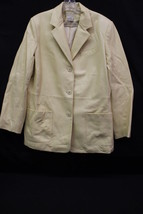 JONES NEW YORK Country, 100% Leather Yellow Jacket, Womens Size 12 - $40.00