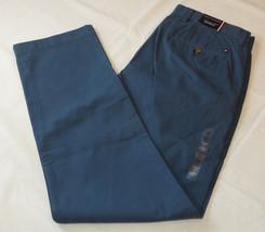 Men's Tommy Hilfiger pants 32 W 32 L custom fit 78A6633 slate blue 907 NWT - $45.13