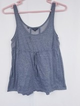 Guess Womens Gray  Mesh Inset Sleeveless Blouse Top S - $9.98
