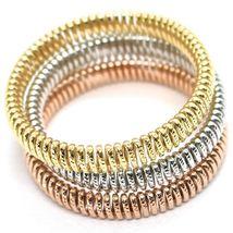 GOLD BRACELET 750 18K, YELLOW 0,5 WHITE 0,5 PINK, SEMI-RIGID, MILLED, ELASTIC image 6