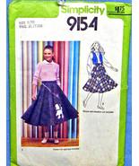Poodle Skirt Pattern with vest - c.1950s - $3.75