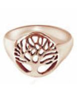 14K Rose Gold Over Flourishing Tree Of Life Ring 925 Sterling Silver Mot... - $143.83