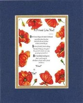 Touching and Heartfelt Poem for Friends - [A Friend like You! ] on 11 x 14 CUSTO - $16.33