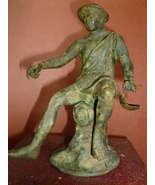 Italian Grand Tour Bronze Fisherman circa 1880-... - $455.00