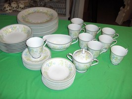 36 Piece Set Vintage Noritake China Essence 2606 NICE (Soup Bowls Sold) - $98.99