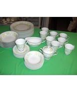 36 Piece Set Vintage Noritake China Essence 2606 NICE (Soup Bowls Sold) - $98.99