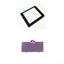 New ATOMIC PURPLE Nintendo Game Boy Pocket GBP Battery Cover + GLASS Scr... - $6.88
