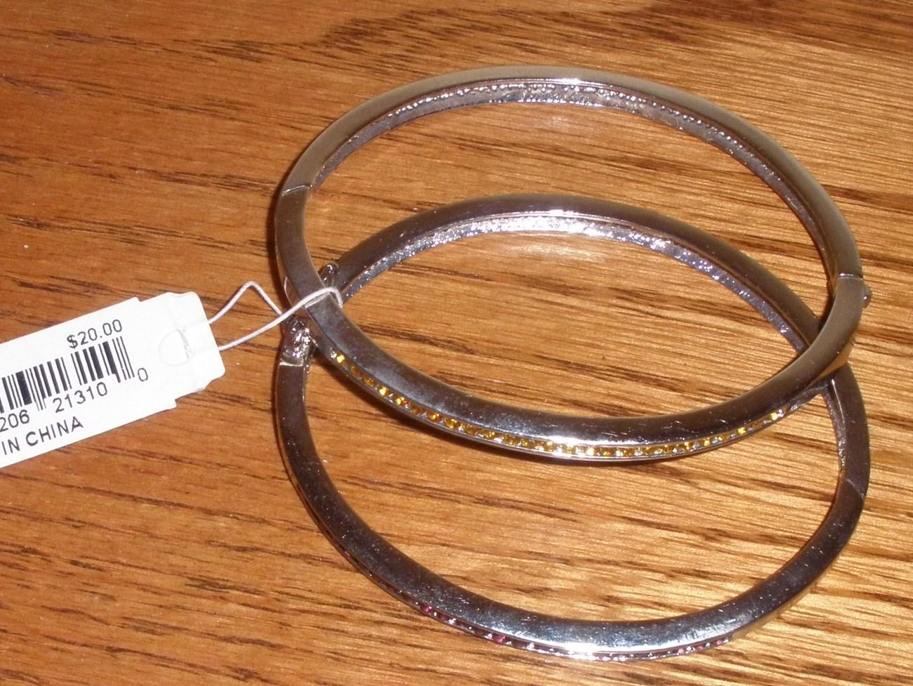 Birthstone bracelets in silvertone