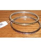 Birthstone bracelets in silvertone - $11.50