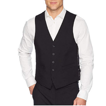 Kenneth Cole Reaction Techni-Cole Stretch Suit Separate Vest, Black, Siz... - $59.39