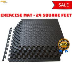 Puzzle Interlocking Foam Mat Gym Eva Floor 24SqFt Exercise Mats Lot Work... - $67.70