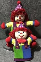 Gymboree Clown Stuffed Plush Puppet + Doll Lot/2 - $39.60