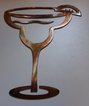 "Margarita Glass Copper/Bronze Metal Wall Art  10"" tall - $13.85"