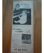 Vintage Clapp's Instant Cereal For Babies Print Magazine Advertisement 1945 - $5.99