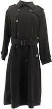 Linea Louis Dell'Olio Length Long Trench Black 10 NEW A343460 - $56.41