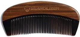 Beardilizer Beard Comb - 100% Natural Black Ox Buffalo Horn & Sandalwood Handle image 1