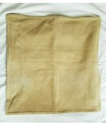 Pottery Barn PIECED SUEDE CAMEL Pillow Cover LINEN COTTON Back  20x20 NW... - $45.00