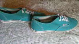 Vans unisex Canvas  Skateboard Shoes Turquoise  women's 7.5 men 6 - $7.61