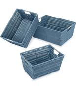 Whitmor Rattique Storage Baskets - Berry Blue - (3 Piece Set) - $31.99+