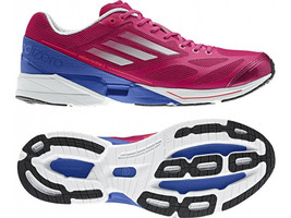 New Womens adidas adiZero Feather 2.0 Running Shoes Pink/Blue Retail $115 G61969 - $65.00