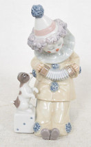 "Lladro Pierrot With Concertina Clown 5279 Porcelain Figurine 6"" Accordio... - $56.43"