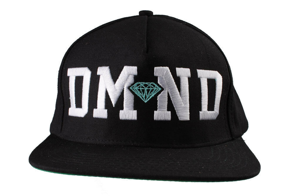 Diamond Supply Co. Nero/Bianco Diamante Blu Snapback Cappello
