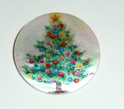 """Christmas Tree w/ Colorful Decorations Mother of Pearl Shank Button 1+3/8"""" - $11.87"""