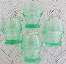 Vintage Georgian Juice Glasses Tumblers Unusual Green Blue Color Set of ... - $109.99