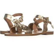 Steve Madden Dancer Flat Sandals 915, Gold Leather, 8 US - $26.86