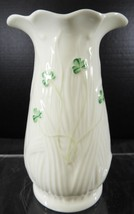 "Belleek Shamrock 6"" Spill Vase  * 13th or 14th Brown Mark - $7.48"