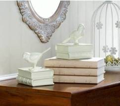10018014 Accent Plus Off White Song Bird Bookends - £12.07 GBP