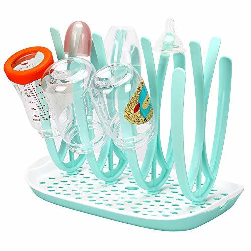 Bottle Drying Rack and Dish Dryer BFA Free, Baby Bottle Nipple Shelf Cup Holder