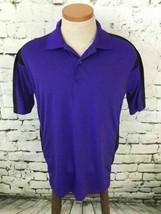 IZOD Perform-X Men's Sz M Shirt Blue Short Sleeve Polo Golf Sport Casual - $9.89