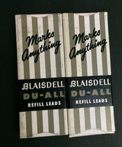 "Vtg Blaisdell Du-All Refill Leads-2 boxes (4 leads per box) 2.75"" L- .12... - $10.84"