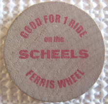 "Wooden Nickel From: ""Scheels Sparks, Nv."" - (sku#4968) - $7.50"