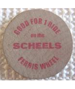 """Wooden Nickel From: """"Scheels Sparks, Nv."""" - (sku#4968) - $7.50"""