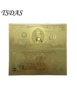 Collectible Gold Foil Banknotes USD 2 Dollar Banknote Gold Plated For So... - €3,91 EUR