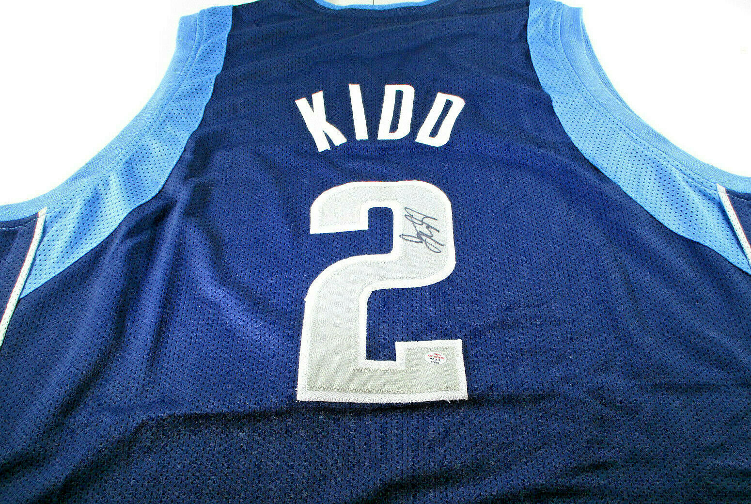 JASON KIDD / NBA HALL OF FAME / AUTOGRAPHED DALLAS MAVERICKS CUSTOM JERSEY / COA