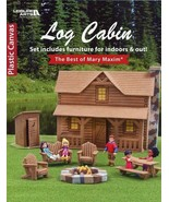 Log Cabin NEW Plastic Canvas PATTERN Booklet Furniture & House to Make - $13.47