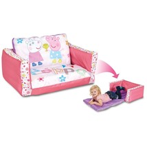 2 in 1 Comfy Inflatable Flip Sofa Peppa Pig Tod... - $37.36