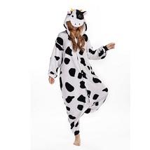 Kid's Adults' Milk Cow Onesie Pajamas Velvet Mink Black / White Cosplay ... - $3.99+