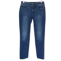 Talbots Womens Jeans Size 4 Straight Curvy Flawless Five Pocket Medium Blue - $15.84
