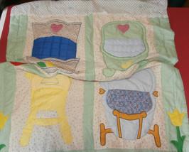 "Doll Comforter Throw Quilt Cradle Stroller Highchair Play Pockets 42"" x 57"" - $24.18"