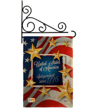 Independence Since 1776 Burlap - Impressions Decorative Metal Fansy Wall Bracket - $33.97