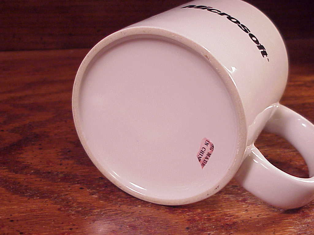 Microsoft Where Do You Want To Go Today? Coffee Mug Cup, Ceramic, circa 1995