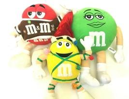 M&M Green Red Yellow Plush Stuffed Dolls Stuffed Animal Figures Christma... - $29.99