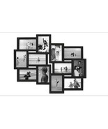 """Jerry & Maggie 12 Photo Frame 19"""" x 22"""" Black Picture Frame For 6x4 Photos - $22.99"""