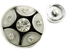 USA SELLER Interchangeable Button Snap Jewelry Crystal Polka Dot 18mm 240 - $5.92