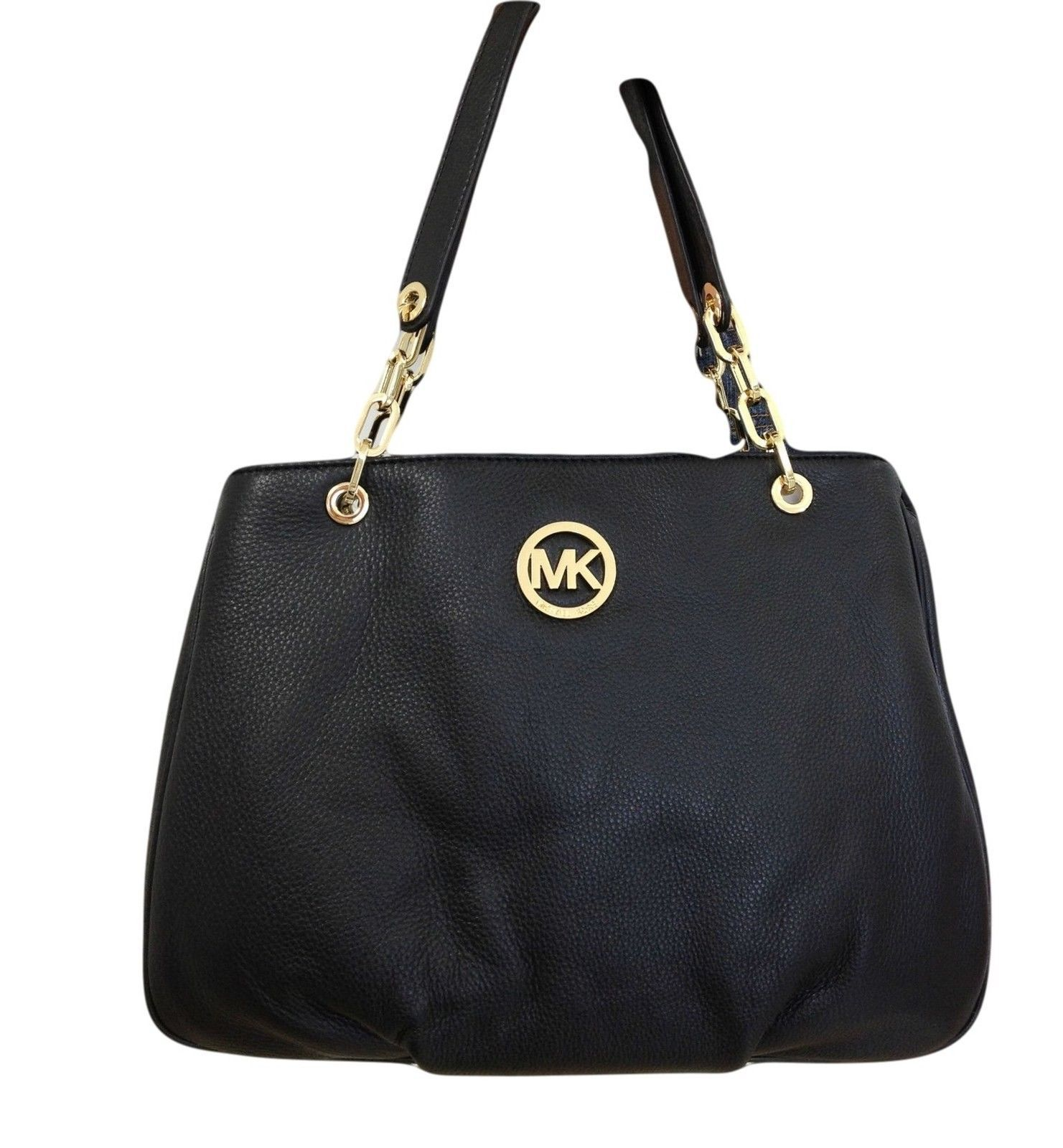 Michael Kors Fulton Chain Leather Large and 17 similar items 6df96a3440ba6