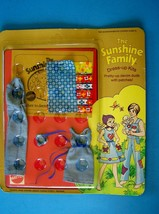 Rare 1975 Sunshine Family DRESS-UP Kits Denim Duds With Patches Family Of 3 Mip - $23.76